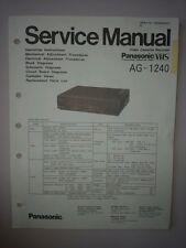 Panasonic Service Manual  VCR AG-1240