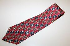 Tommy Hilfiger Designer Neck Tie Crest Star Dog Jack Russel Italian Silk 57L 4W