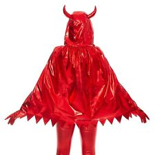 Claire's Metallic Hooded Devil Cape With Horns Red Women's/Girls One Size New