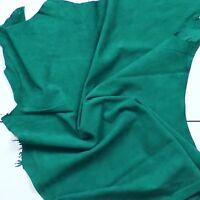 Superb silky soft goat suede Velvet nap Emerald green BARKERS HIDE & SKINS H389