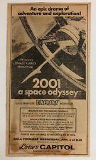 2001 A SPACE ODYSSEY Kubrick 1968 CINERAMA World Premiere NEWSPAPER AD + REVIEW