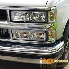 [8Pcs Chrome] 1994-1998 Chevy Silverado/Tahoe Head Light + Corner + Signal Lamp