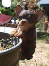 Chihuahua Figur lebensecht Welpe hängend Dekofigur Tierfigur HOTANT