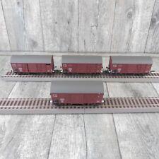 LILIPUT - H0 - DR - 4 x GW Oppeln Grhs m. Federpufferung - modifiziert  #D25277