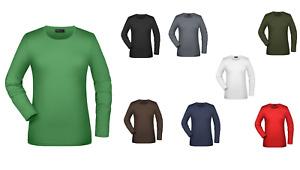 Damen Ladies Tangy Langarm Shirt  James&Nicholson JN054