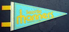 "Baseball Mini PENNANT 1970s Trench 6 3/4"" x 1"" Streamers SEATTLE MARINERS"