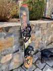 Vintage K2 Bob Marley Snowboard with bindings and Burton Seafari cover