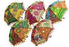 Wholesale Lot Indian Decorative Party Designer Umbrella Cotton Sun Parasol
