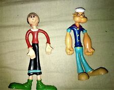 POPEYE & OLIVE FLEXIBLES * BENDABLE FIGURES * VINTAGE * 10 Cm
