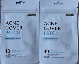 2x Avarelle Acne Cover Blemishes Patch 40 Clear Patches In Each (80 Total) NEW