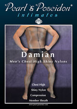 """""""Damian"""" - men's over the chest glossy nylons with member sheath"""
