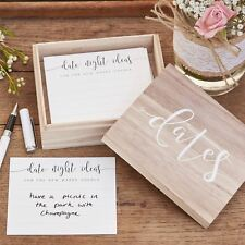 Date Night Ideas Box & Cards -  Alternative Wedding Guest Book