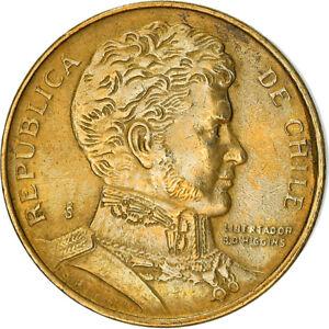 [#382483] Coin, Chile, Peso, 1991, AU(50-53), Aluminum-Bronze, KM:216.2