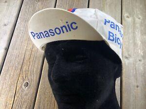 VINTAGE BIKE BICYCLE PANASONIC CYCLING CAP EROICA RACING CAP ROAD BIKE STEEL NEW