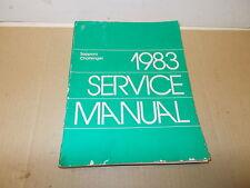 Mopar USED Original Service Manual 1983 Dodge Challenger/Plymouth Sapporo