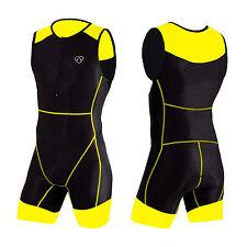 Abbigliamento da uomo giallo per palestra, fitness, corsa e yoga taglia XL