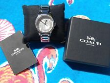 "COACH ""Maddy"" Watch, Silver with 60 crystals, Stainless Steel, #14501937  NEW"