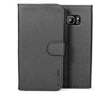 for Samsung Galaxy S7 Edge Case Premium Leather Card Slot Wallet Flip Cover