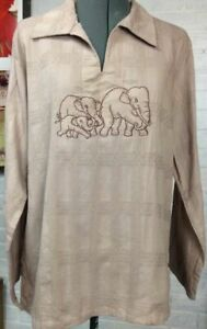 Elephant Family Tan Cotton Tunic  XL Extra Large