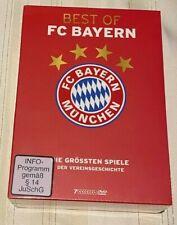 7 DVD Box Best of FC Bayern München Die größten Spiele der Vereinsgeschichte