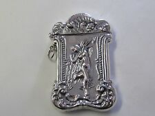 REPOUSSE NUDE DESIGN STERLING SILVER MATCH SAFE/ VESTA - NEW