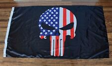 New Punisher Skull Red White Blue American Flag Navy Seal Police Military USA R