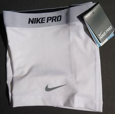 "NEW! White/Grey [L] NIKE PRO Compression 5.0""  Women's DRI-FIT Shorts Large"
