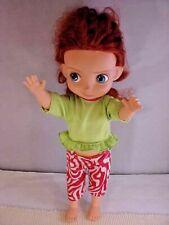 "Disney Doll Merida Brave 15 1/2"" Height Beautiful Red Hair Pedal Pushers Midriff"
