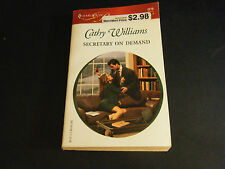 Secretary on Demand by Cathy Williams (2002, Paperback)