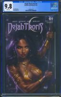 Dejah Thoris 1 (Dynamite) CGC 9.8 White Pages Cover by Lucio Parrillo