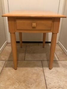 Ethan Allen American Dimensions End Table Rectangular 15-8303 Finish 255 Natural