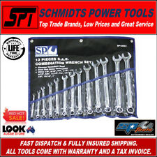 SP TOOLS SP10063 SAE SPANNER SET 13PC COMBINATION IMPERIAL WRENCH SET & POUCH AF