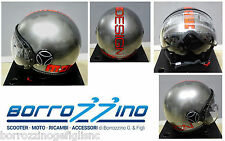 CASCO MOMO DESIGN FIGHTER EVO METAL DECAL ARANCIO FLUO-NERA DOPPIA VISIERA TG.XL