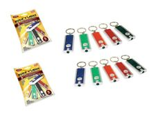 2 PK Buck Light Powerful LED Keychain Lights 5 Count Each Assorted Colors
