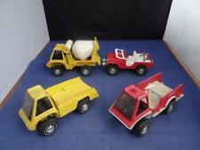 (4) Vintage Gabriel Hubley Diecast Vehicles Cement Mixer Fire Truck Jeep Utility