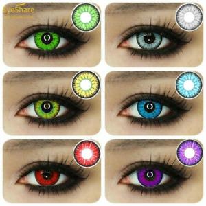 1 Pair Unisex Multicolor Color Contact for Eye Makeu Charming Makeup Beauty