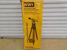 Northwest Instrument Transit Level Nslp500b Tripod Grade Rod Package Open Box