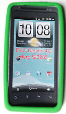 Neon Green Rubber Case Cover for HTC Evo Design 4G Hero S Kingdom