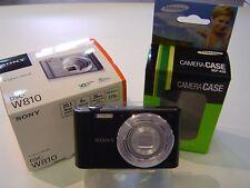 Sony Cyber-shot DSC-W810 Black 20.1MP Digital Camera Free SAMSUNG camera case