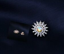 New Exquisite Small Size Crystal Collar Brooch Pin Wedding Bridal Bouquet Gifts