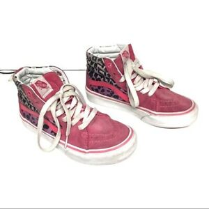 VANS Skate Shoes Size 1.5 Girls pink sneakers high-top