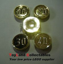 LEGO CHROME GOLD COINS 10 20 30 40 BRAND NEW ON SPRUE TREASURE CLASSIC PIRATE