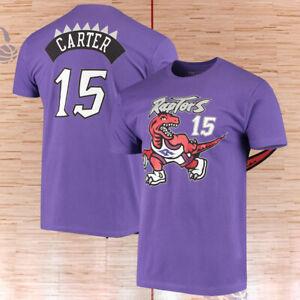 Toronto Raptors Vince Carter Mitchell & Ness Purple Hardwood Classics T-Shirt