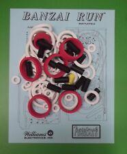 1988 Williams Banzai Run pinball rubber ring kit