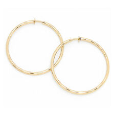 Orejas clips clip aretes creolen criollos oro dorado motivo 6 cm por.