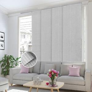 Deluxe Adjustable Sliding Panel Track Curtain Shade Patio Door Vertical Blind