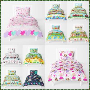 2-Pcs Toddler Boys Girls Bedding Set Duvet Cover Pillowcase 120x150 150x120 cm