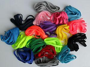 Lacci fluo giallo, verde, fuxia colorati piatti scarpe Nike, Shoes laces flat
