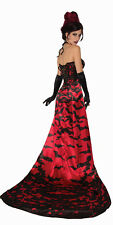 Womens Vampire Queen Costume Gothic Victorian Sexy Cosplay Adult Size Standard