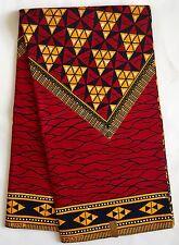 African Print Fabric, Ankara - Red & Marigold 'Proper Royal' , By the Yard